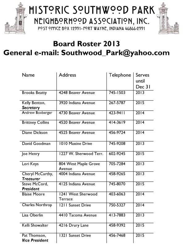 Board roster WEB 2013