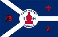 flag of the City of Fort Wayne, Indiana