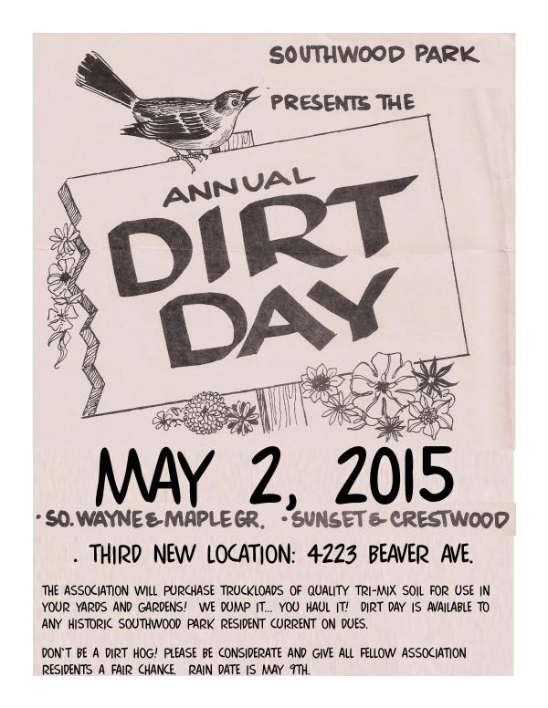 Southwood Park Dirt Day: May 2, 2015